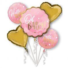 bouquet-ballons-baby-shower-rose-bleu | jourdefete.com
