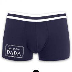 """Boxer pour homme """" Super Papa """" - Taille au Choix"""