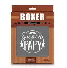 """Boxer pour homme """" Super Papy """" - Taille au Choix"""