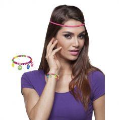 Bracelet Hippie Multicolore Peace And Love