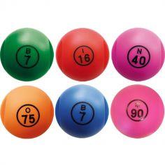 1 Boule de Loto Magnétique Numérotée + 100 Pions - Coloris au choix