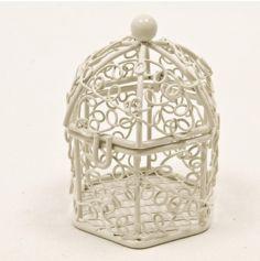 Cage à Oiseaux Décorative - Blanc