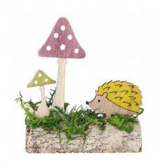 buche-automne-mousse-champignons-herisson|jourdefete.com