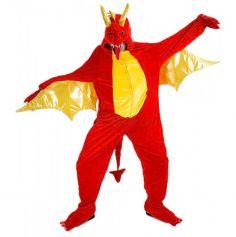 Déguisement de Dragon Rouge en Peluche Adulte
