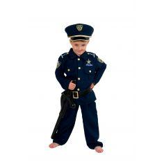 Costume de policier américain garçon