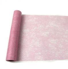 Chemin de table Romance - Rose Bonbon