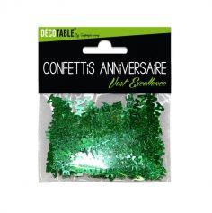 "Confettis ""Joyeux Anniversaire"" Métallisés - Vert"