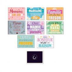 magnets famille en ceramique | jourdefete.com