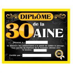 diplome-cadeau-anniversaire-30ans | jourdefete.com