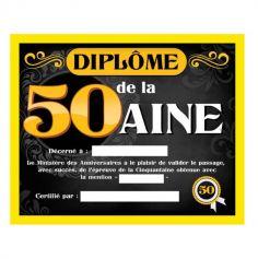 cadeau-anniversaire-50ans-diplôme | jourdefete.com