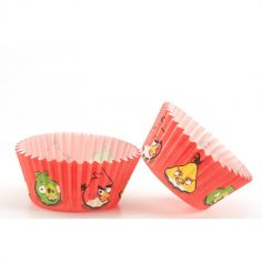 Caissettes à cupcakes x50 - Angry Bird