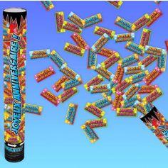 canon à confettis joyeux anniversaire