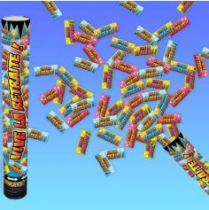 canon à confettis vive la retraite