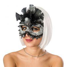 Loup de carnaval Araignée en Sequin et Dentelle
