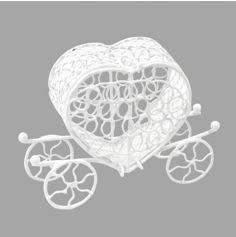 carrosse-petit-metal-blanc-mariage|jourdefete.com