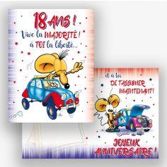 Carte d'Anniversaire Géante - 18 ans