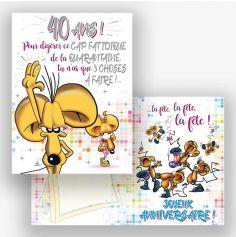 Carte d'Anniversaire Géante avec Enveloppe - 40 ans