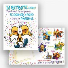 Carte Géante avec Enveloppe - Retraite   jourdefete.com