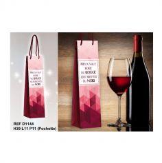 """Pochette Cadeau pour Bouteille """"Boire du Rouge"""""""