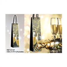 """Pochette Cadeau pour Bouteille """"Champagne"""""""