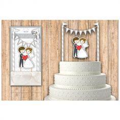 Décoration top gâteau de mariage