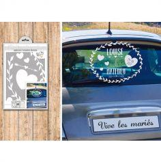 Kit Stickers décoratifs de voiture pour mariage
