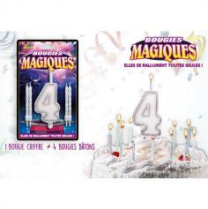 Bougies magiques – Chiffre 4