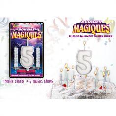Bougies magiques – Chiffre 5