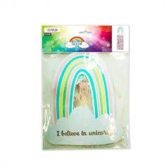 """Suspension Licorne """"I believe in unicorns"""" - Irisée"""
