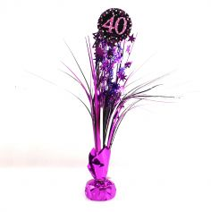 Centre de Table Palmier 40 Ans - Violet / Rose
