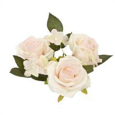Centre de Table Roses & Feuillage - Couleur au Choix