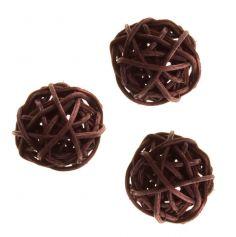 Petites Boules en Rotin Chocolat