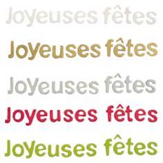 """Décoration Lettres """"Joyeuses Fêtes"""" - Coloris au Choix"""