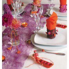 Chemin de Table en Intissé Romance - Coloris au Choix