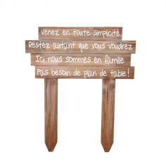 panneau en bois pas de plan de table | jourdefete.com
