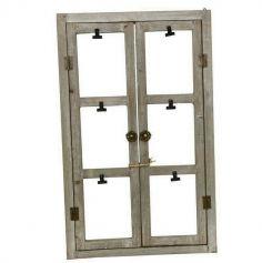 Porte photo cadre fenêtre en bois - 48 x 50 cm | jourdefete.com