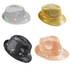 chapeau-borsalino-led-lumineux-accessoire-reveillon | jourdefete.com