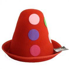 Chapeau de Clown - Bleu ou Rouge au choix