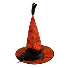 Chapeau de Sorcière avec Plumes - Adulte - Couleur au Choix