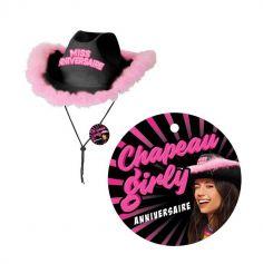 Chapeau Girly Miss Anniversaire - Couleur au choix