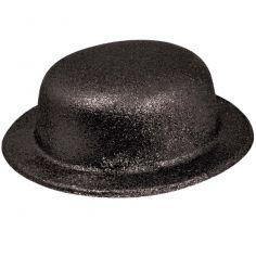 chapeau melon de déguisement noir