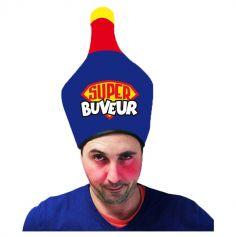 """Chapeau """"Super Buveur"""" - Taille Unique"""