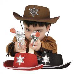 Chapeau de Shérif enfant - coloris au choix