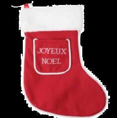 Chaussette à Suspendre - Rouge - Joyeux Noël