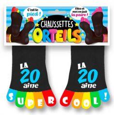 chaussettes-anniversaire-20-ans | jourdefete.com