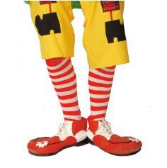 Chaussettes Rayées de Clown Blanc/Rouge