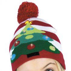 Bonnet de Noël - Charly's Xmas - Adulte - Sapin Lumineux