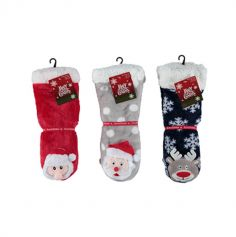 Chaussettes de Noël avec personnage 3D - Enfant - Taille 31/35 - Couleur au Choix