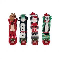 Chaussettes de Noël - Femme - Taille Unique - 36/41 - Modèle au choix