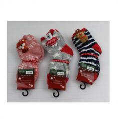 Chaussettes de Noël pour Enfant - Taille 25/30 - Couleur au Choix